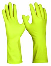 Guanto yellow latex, taglia M